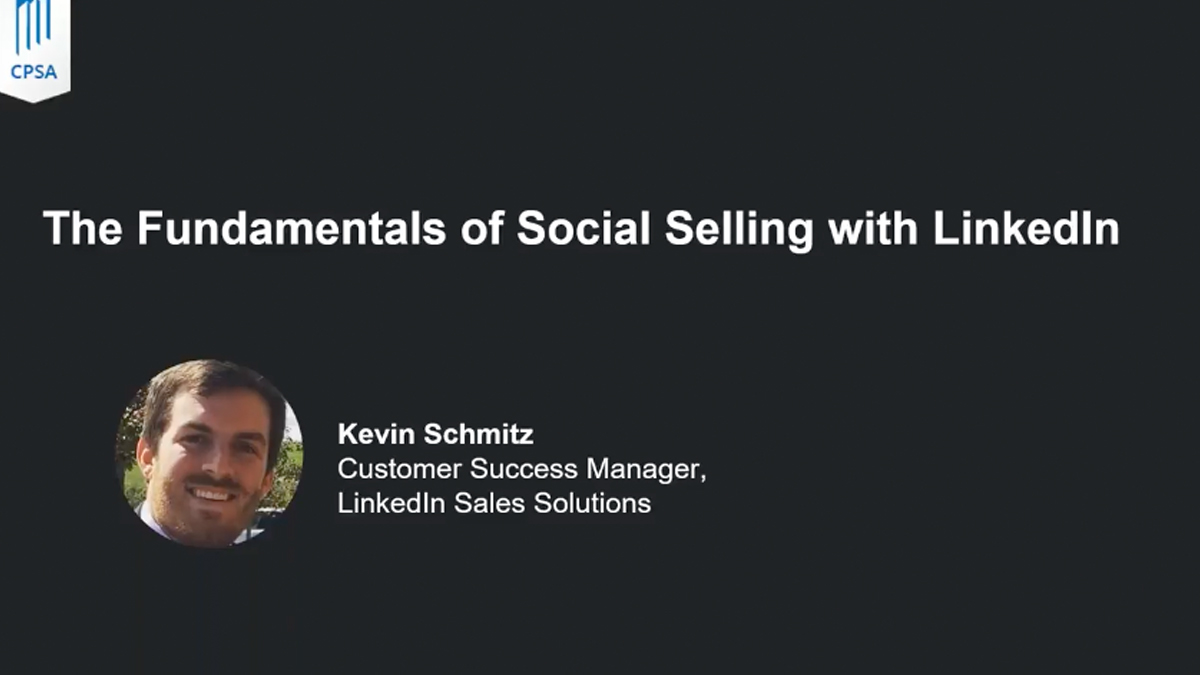 The Fundamentals of Social Selling with LinkedIn
