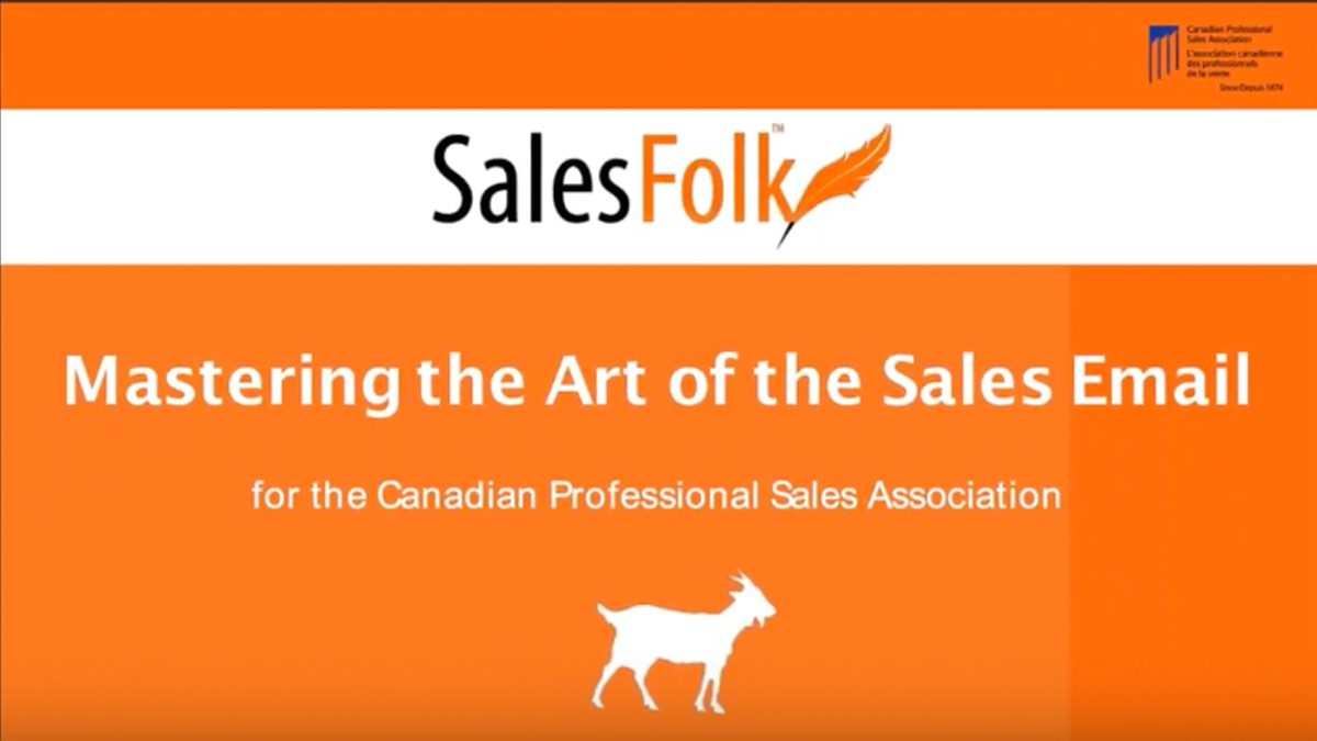 Mastering the Art of the Sales Email, Heather R. Morgan, CEO, SalesFolk