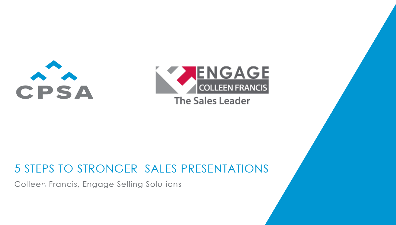 CPSA Webinar Recording - 5 Steps to Stronger Sales Presentations