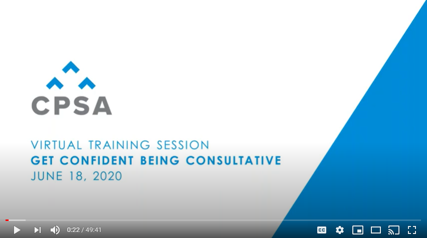 Virtual Training Session: Get Confident Being Consultative