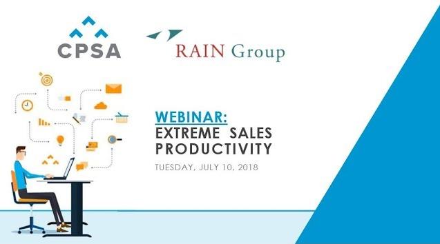 CPSA Webinar Recording- Extreme Sales Productivity
