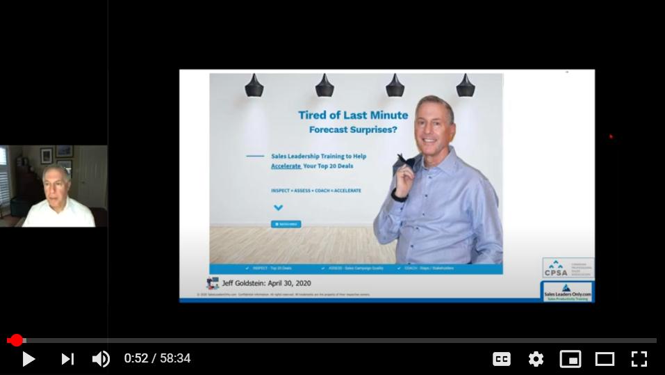 CPSA Webinar: Inspect, Assess, and Coach to Win Bigger Deals