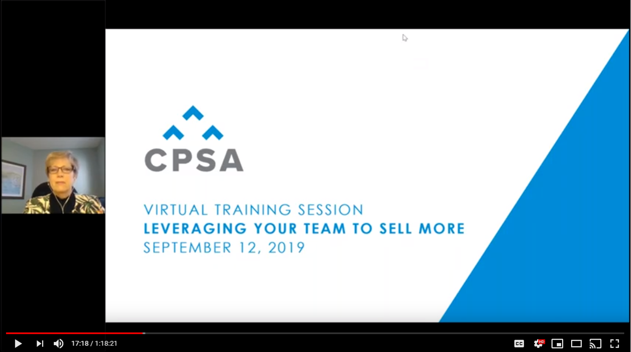 Virtual Training Session: Leveraging Your Team to Sell More