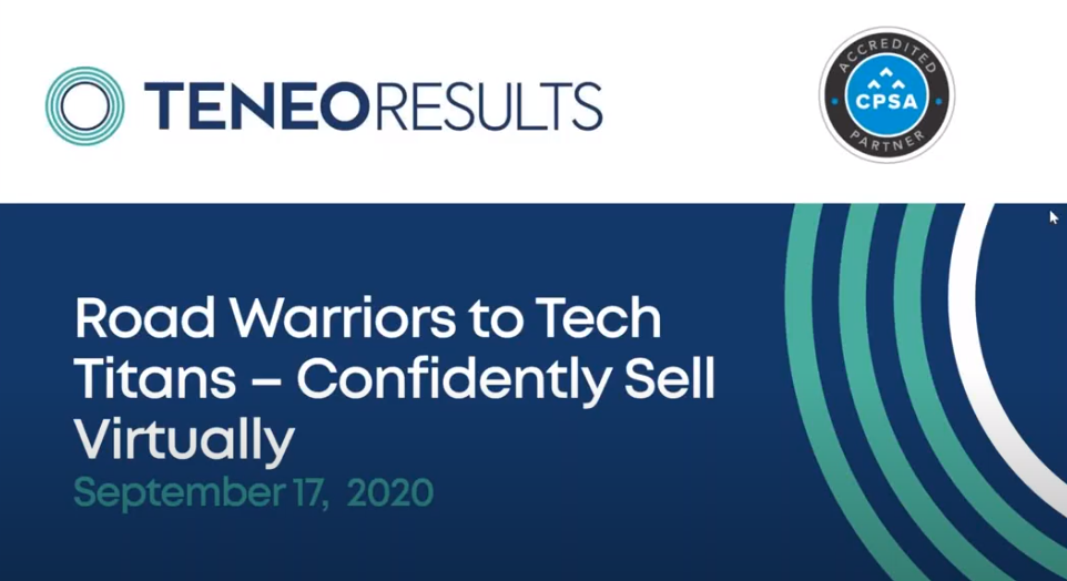 CPSA Accredited Partner Webinar: Road Warriors to Tech Titans – How to Confidently Sell Virtually