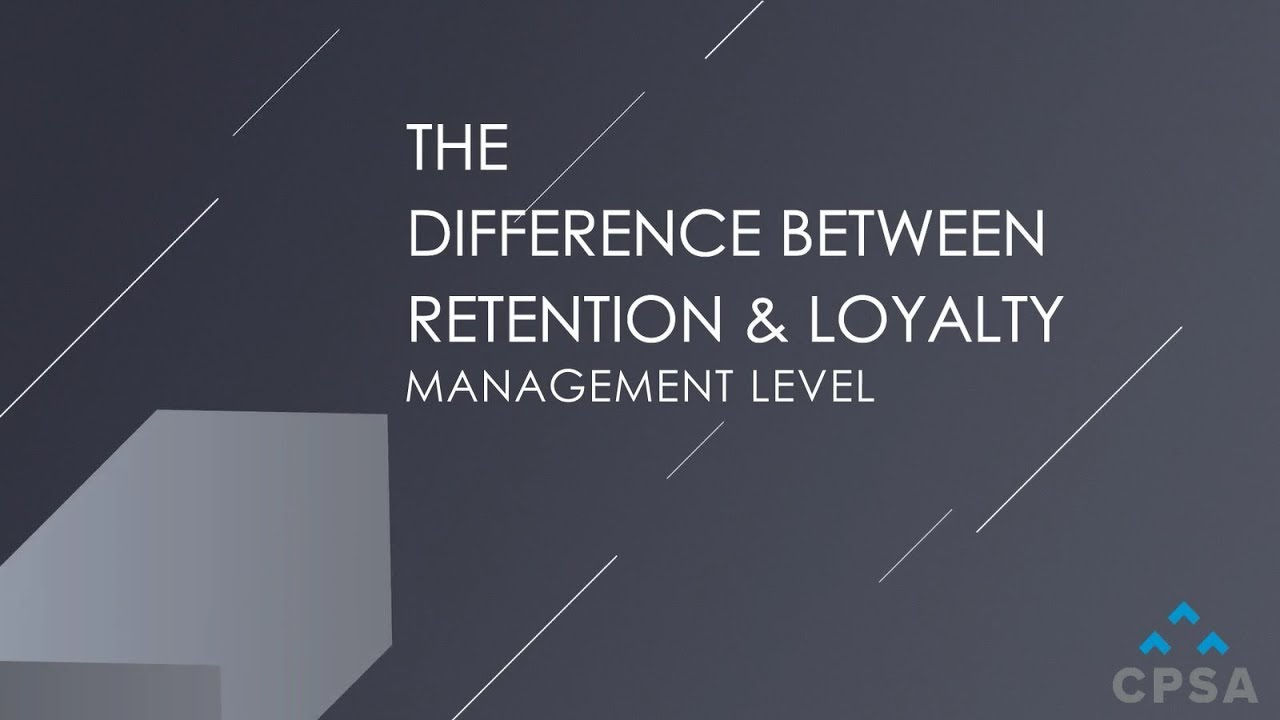 The Difference Between Loyalty and Retention