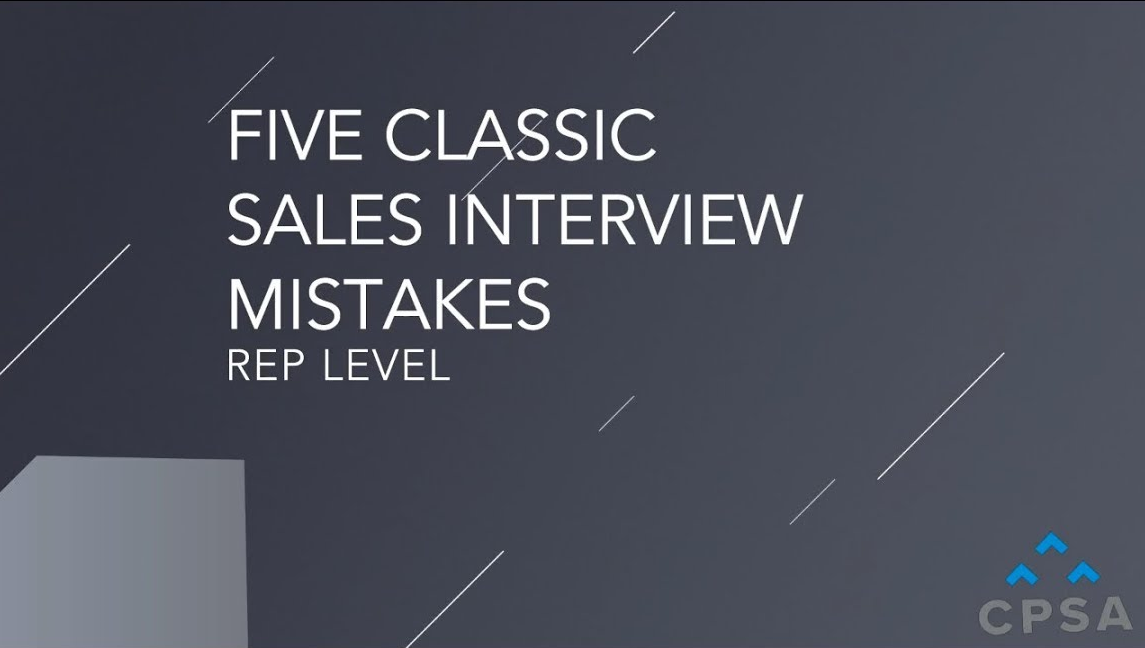 Five Classic Sales Interview Mistakes