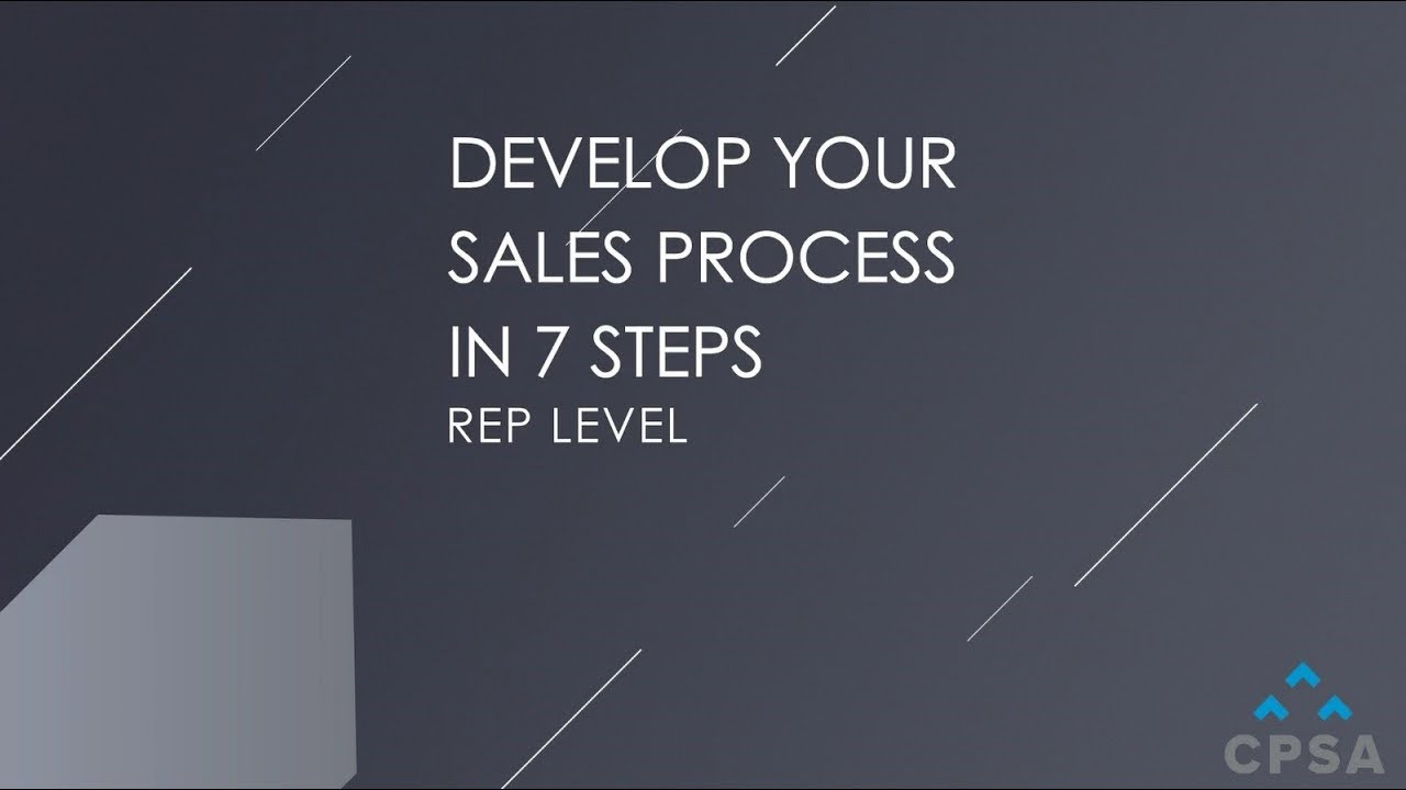 How to Develop Your Sales Process in 7 Essential Steps