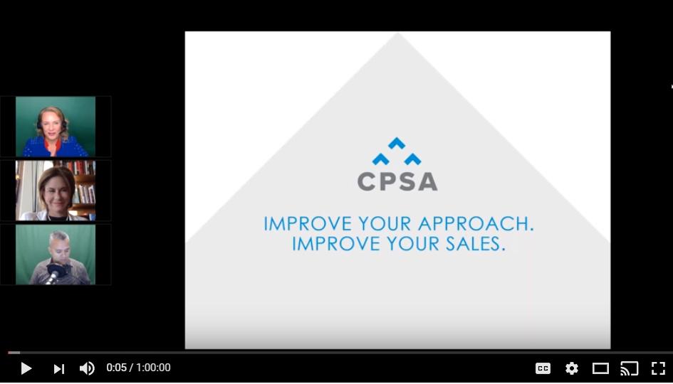 CPSA Webinar: Improve Your Approach. Improve Your Sales