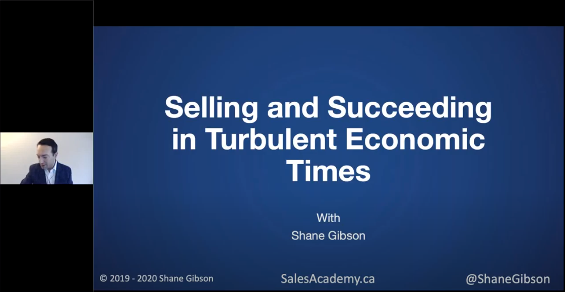 CPSA Webinar: CPSA Webinar Selling and Succeeding in Turbulent Economic Times