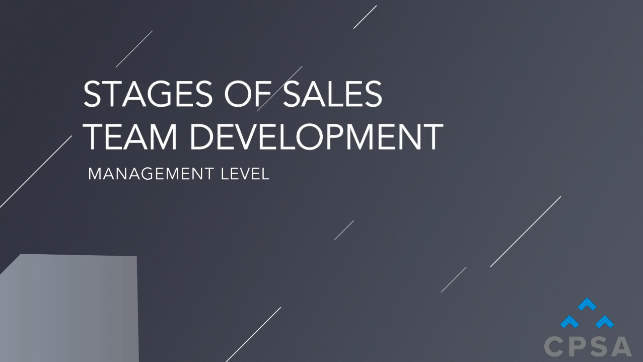 The Four Stages of Sales Team Development