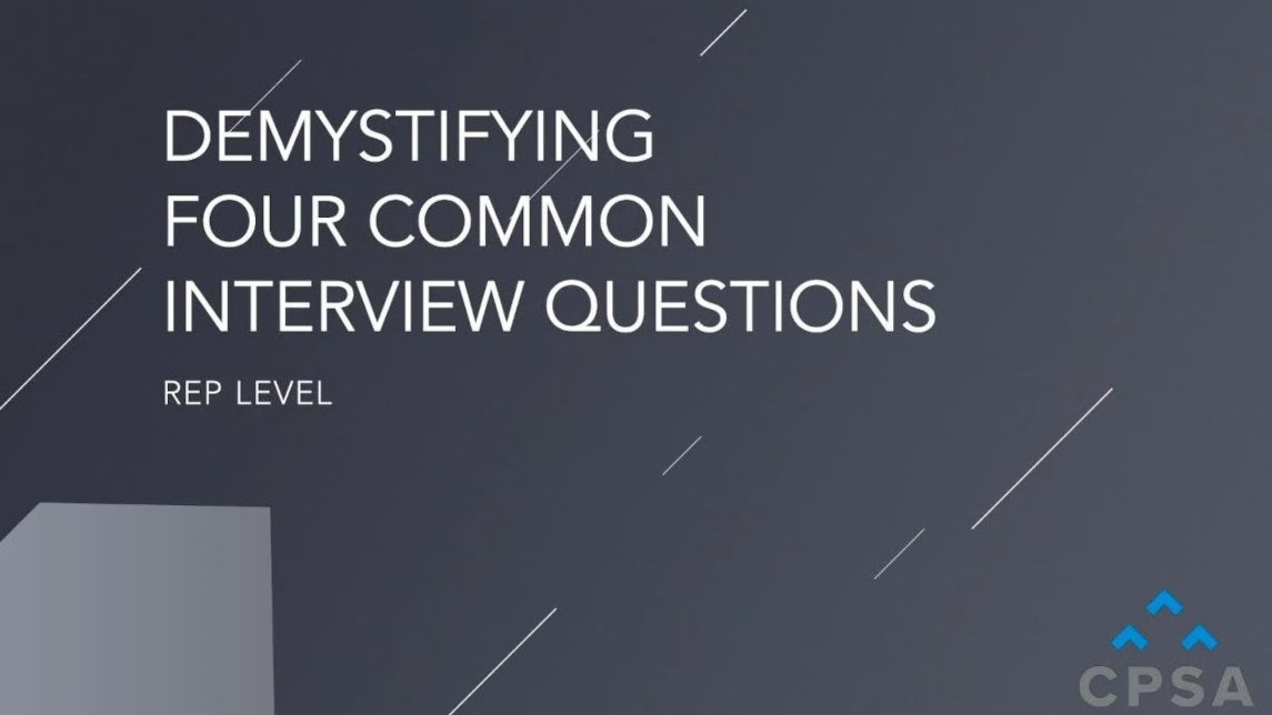 Demystifying Four Common Sales Interview Questions
