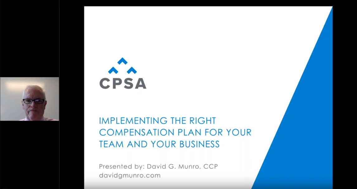 Webinar Recording- Implementing the RIGHT Compensation Plan for your Team and your Business