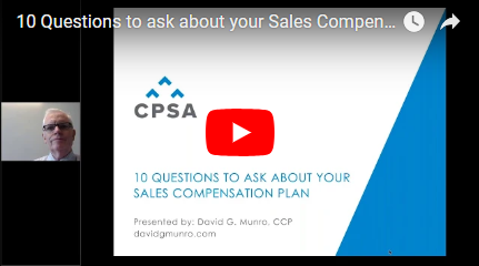 Webinar Recording- 10 Questions to ask about your Sales Compensation Plan