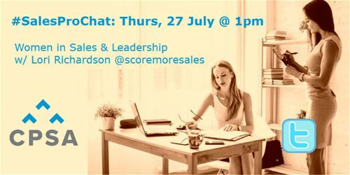 women in sales twitter chat with lori richardson
